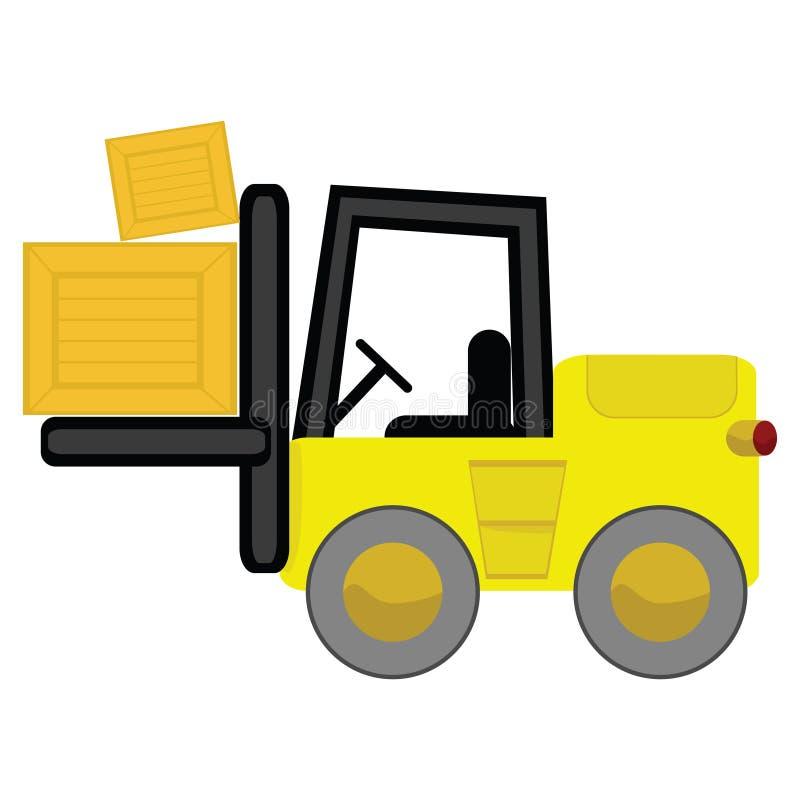 Forklift dos desenhos animados ilustração stock