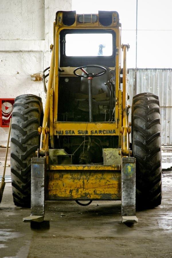 Forklift industrial imagem de stock