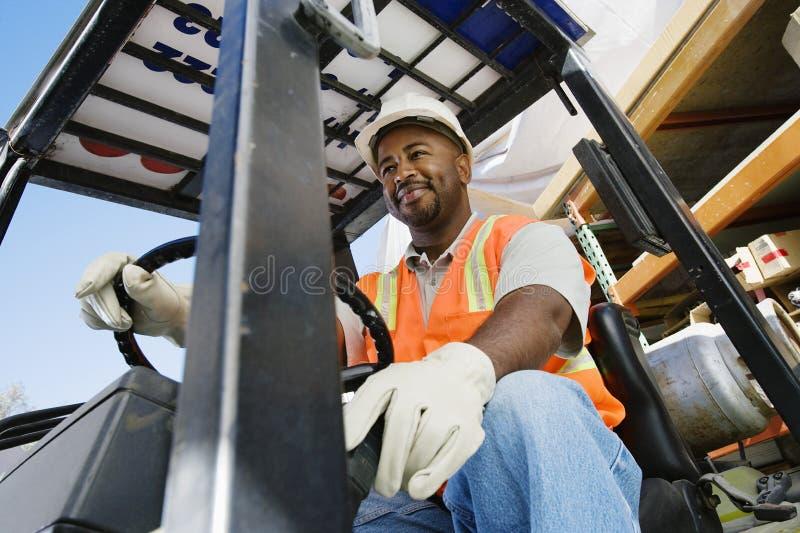 Forklift kierowca fotografia royalty free