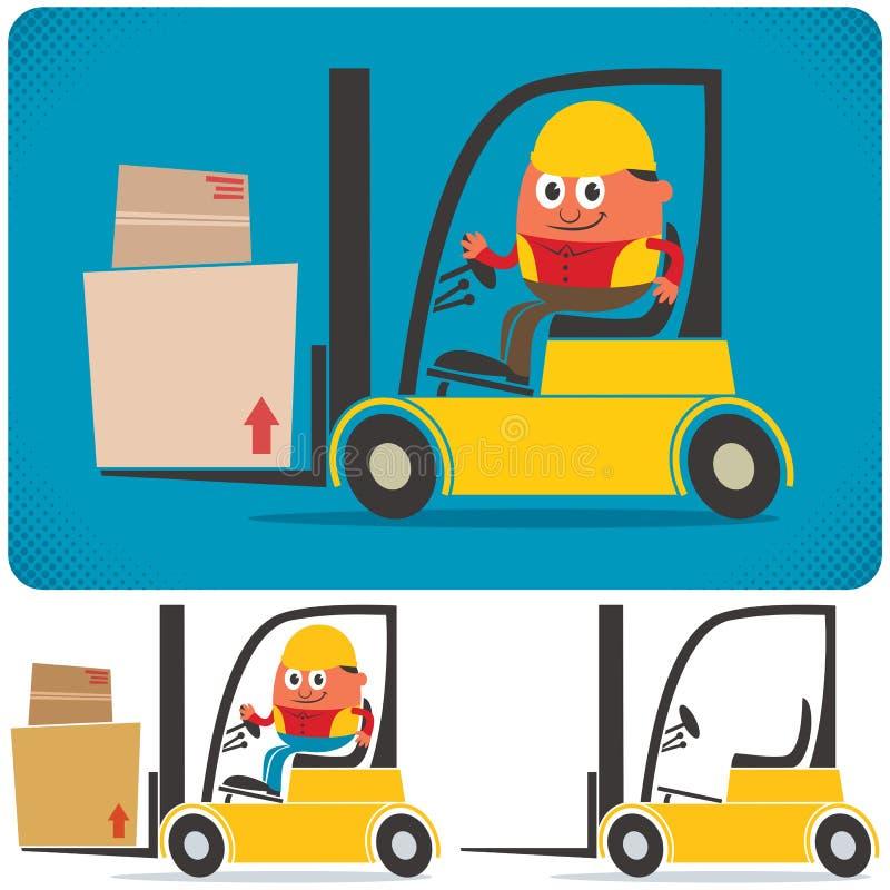 Forklift kierowca royalty ilustracja