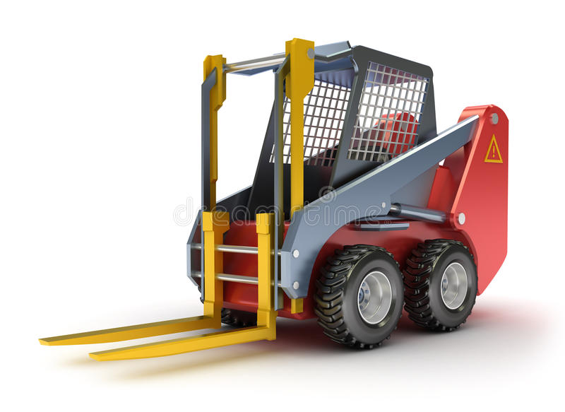 Download Forklift machine stock illustration. Image of isolated - 15083781