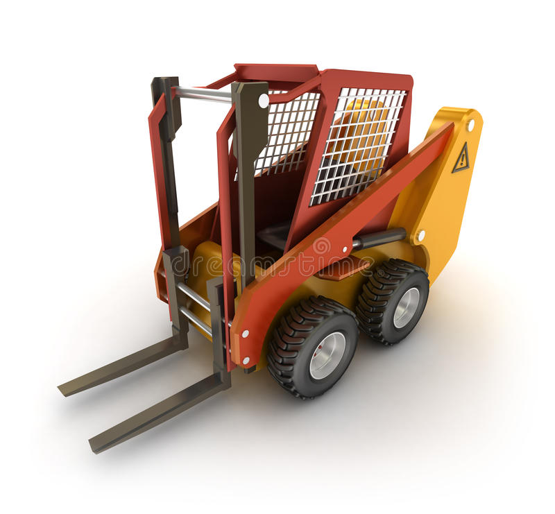 Download Forklift Machine, Isolated On White Stock Illustration - Image: 22294727