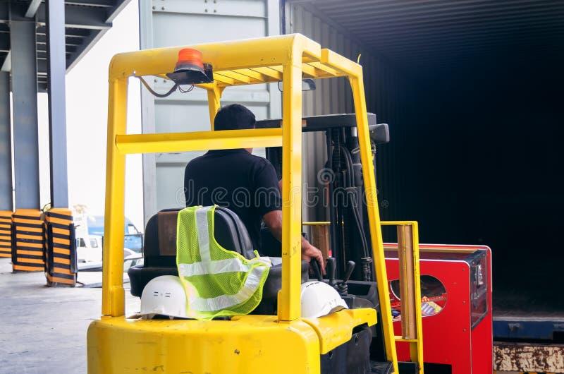 Forklift operator obraz royalty free