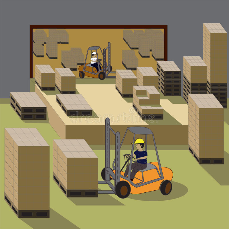 Download Forklift Operator stock vector. Image of machinery, driver - 22714499