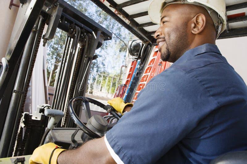 Forklift operator zdjęcie stock