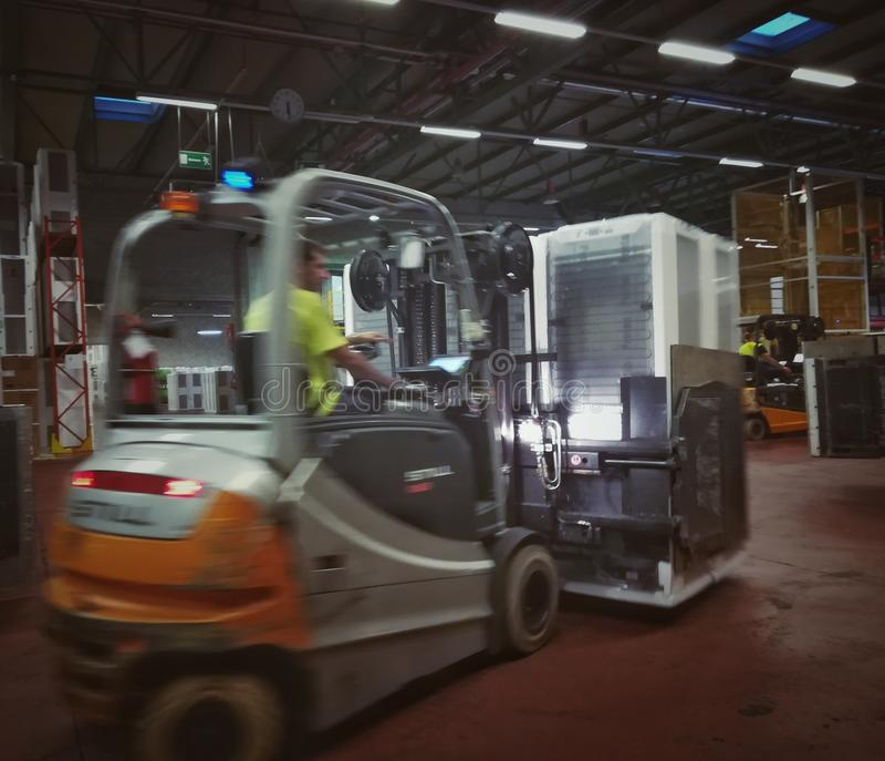 Forklift operator zdjęcia royalty free