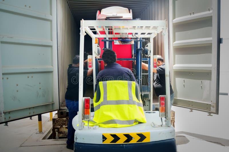 Forklift operator przy pracą fotografia royalty free
