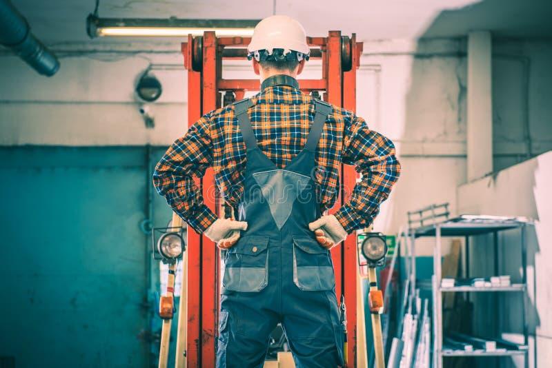 Forklift operatora narządzanie obraz royalty free