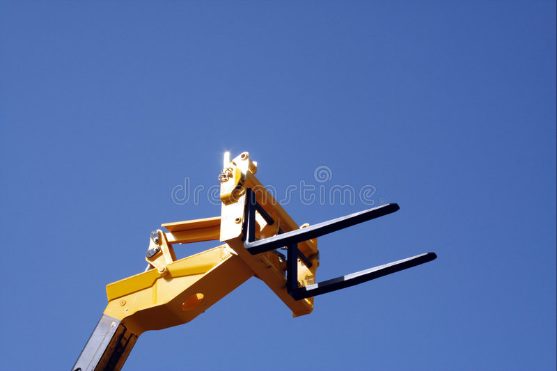 Forklift's head royalty free stock photos