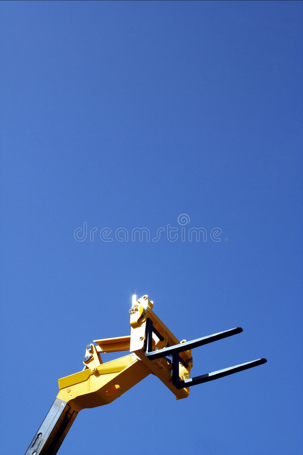 Forklift's head royalty free stock photo