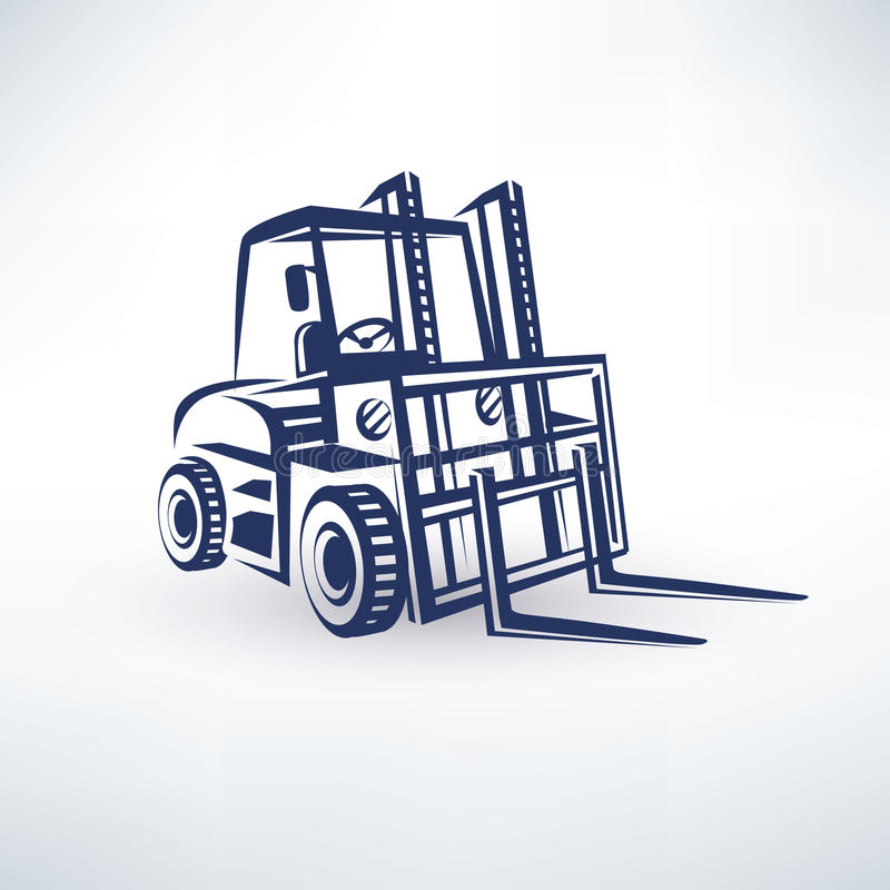 Forklift symbol. Stylized vector silhouette royalty free illustration