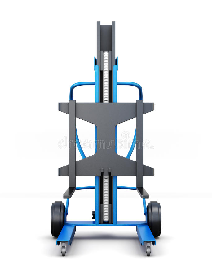 Forklift truck. Front view. 3d rendering royalty free illustration