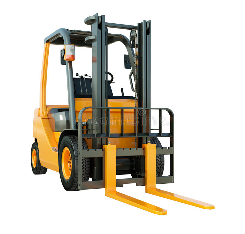 Free Forklift Truck Isolated Royalty Free Stock Photo - 32882545