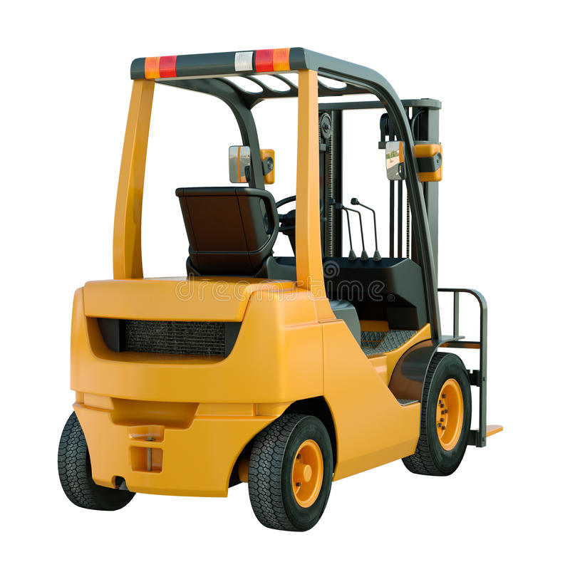 Download Forklift truck isolated stock photo. Image of fork, komatsu - 32882574