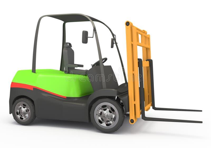 Forklift on white royalty free illustration