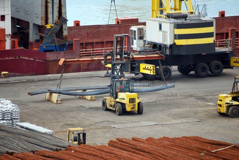 Download Forklift at work stock image. Image of crane, loading - 41366697