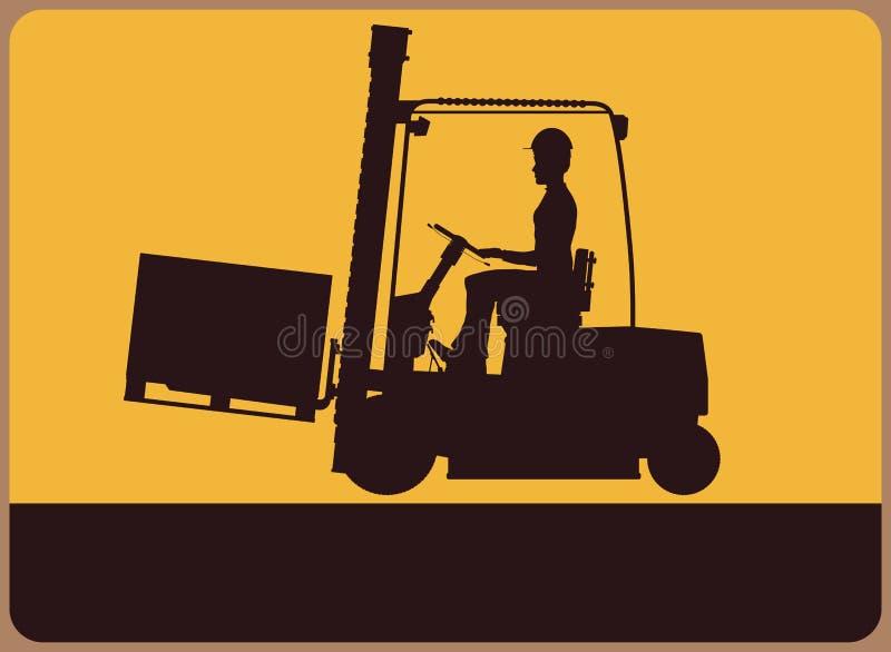 Forklift znak ilustracji