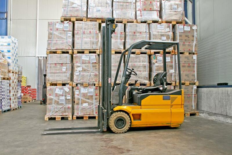 Forklifter Export stockfoto