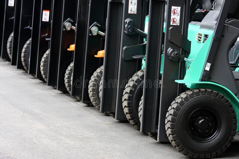 Forklifts stock afbeeldingen