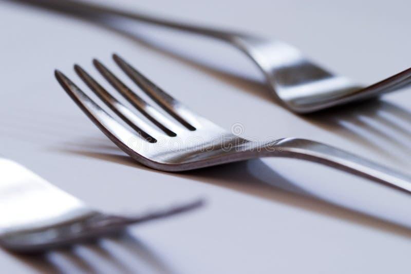 Forks 01. Forks isolated on white stock image
