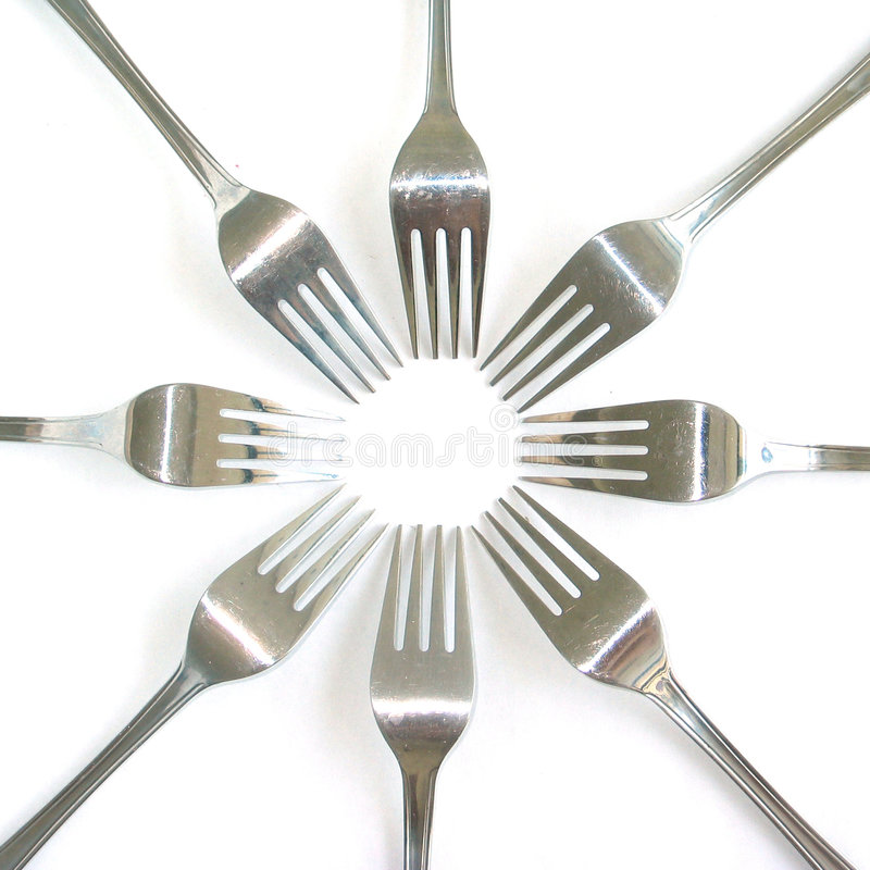 Forks stock images