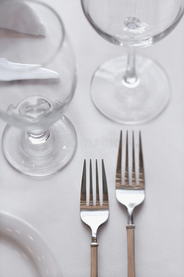 Download Forks on Dining Table stock image. Image of soft, tables - 12753153