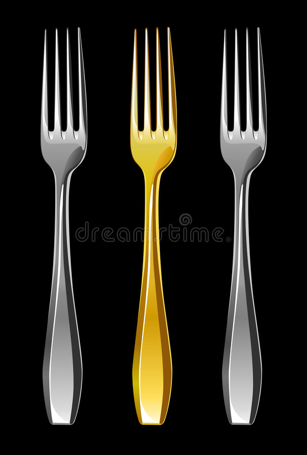 Forks, illustration royalty free stock photography