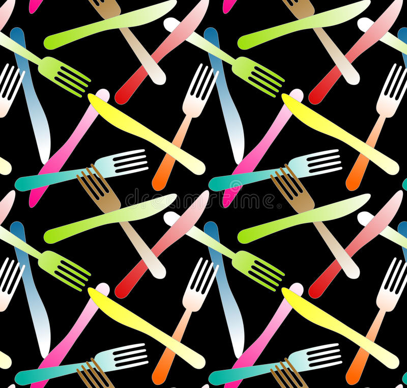 Forks and Knifes Seamless Background