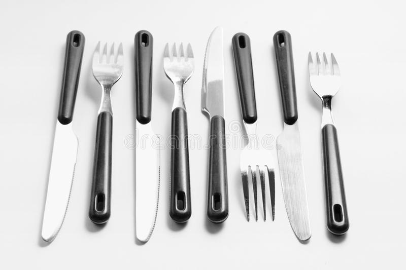 Download Forks and Knives stock photo. Image of kitchenware, arrangement - 29876496
