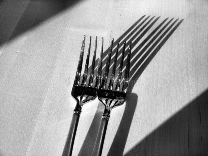 Download Forks and Shadows stock photo. Image of dining, food, restaurant - 12856