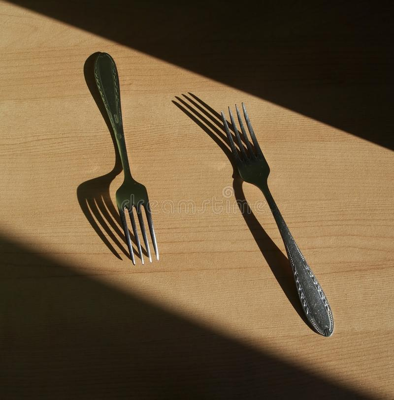 Download Forks stock photo. Image of table, object, forks, sahdow - 39073684