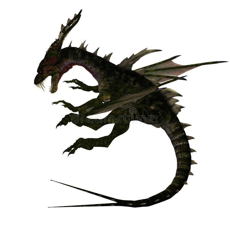 forktail d'imagination de dragon mythique illustration stock