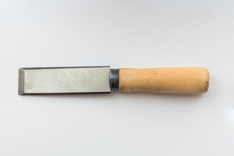 Formão da ferramenta, fim acima imagem de stock