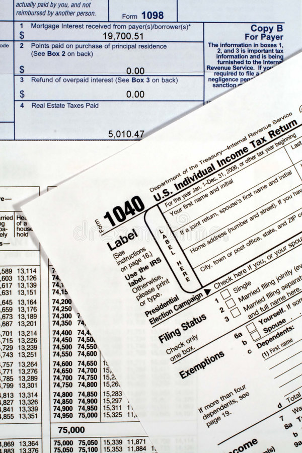 Form 1040 Income Tax Return Stock Image Image Of Finance Income