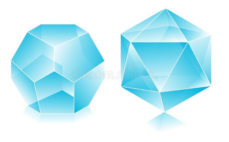 form 3d royaltyfri illustrationer