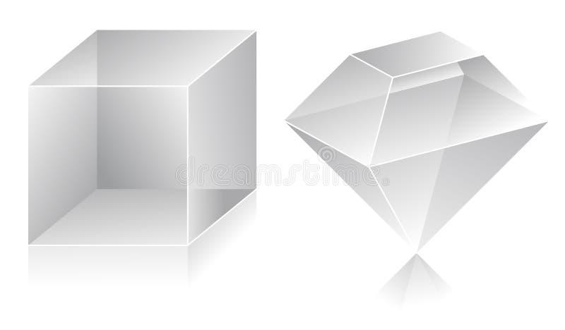 Form 3D vektor abbildung