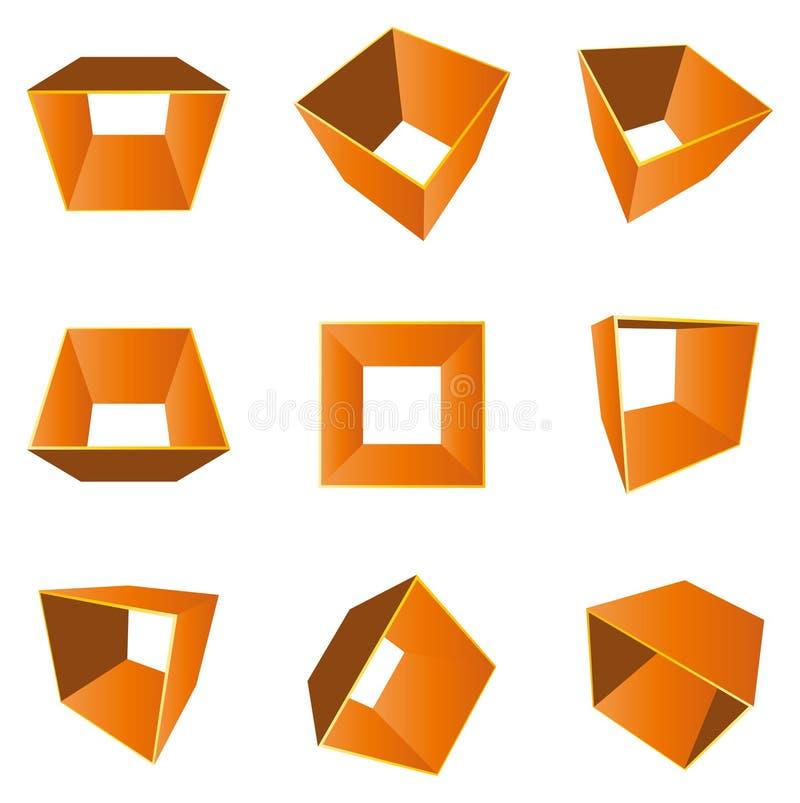 Form 3D (Vektor) stock abbildung