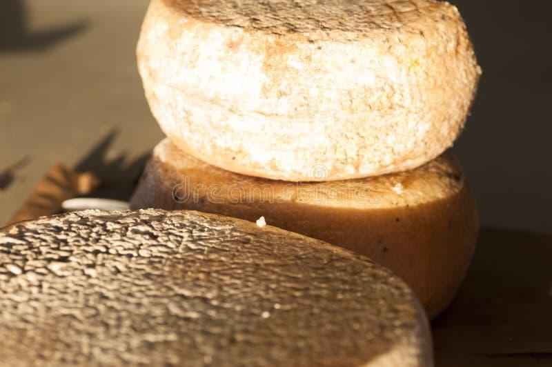 Form av hel ost arkivbilder