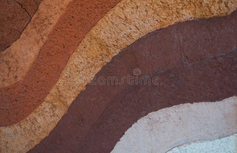 Form av jordlager, dess färg och texturer royaltyfri fotografi