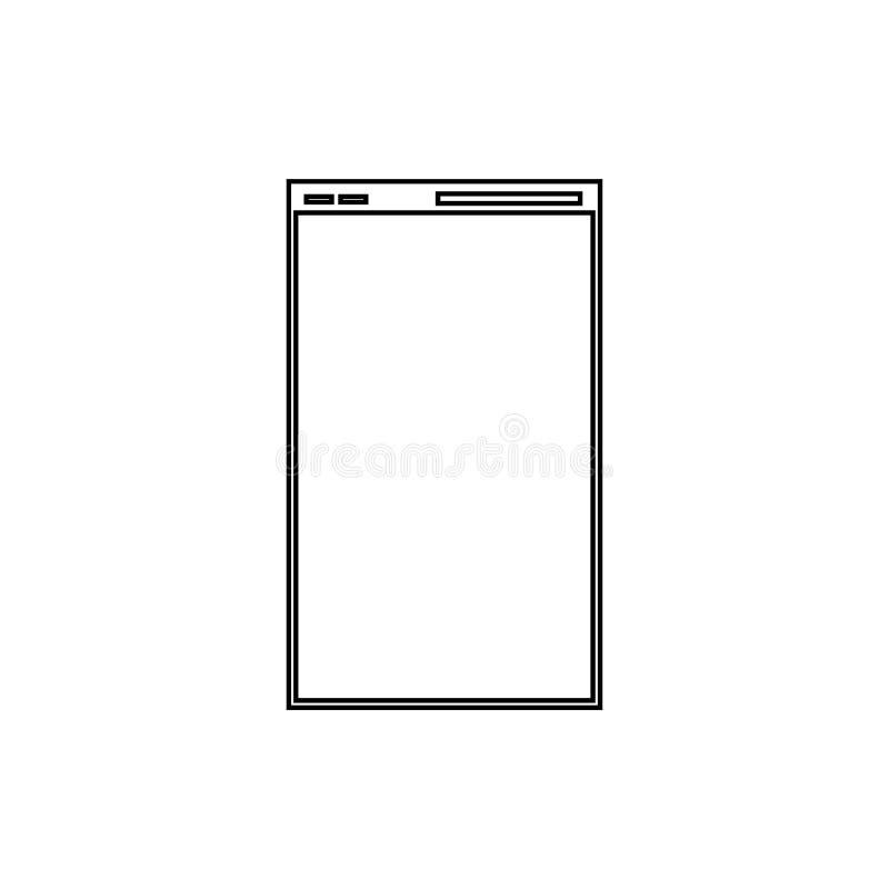 Web page icon. Internet window symbol royalty free illustration