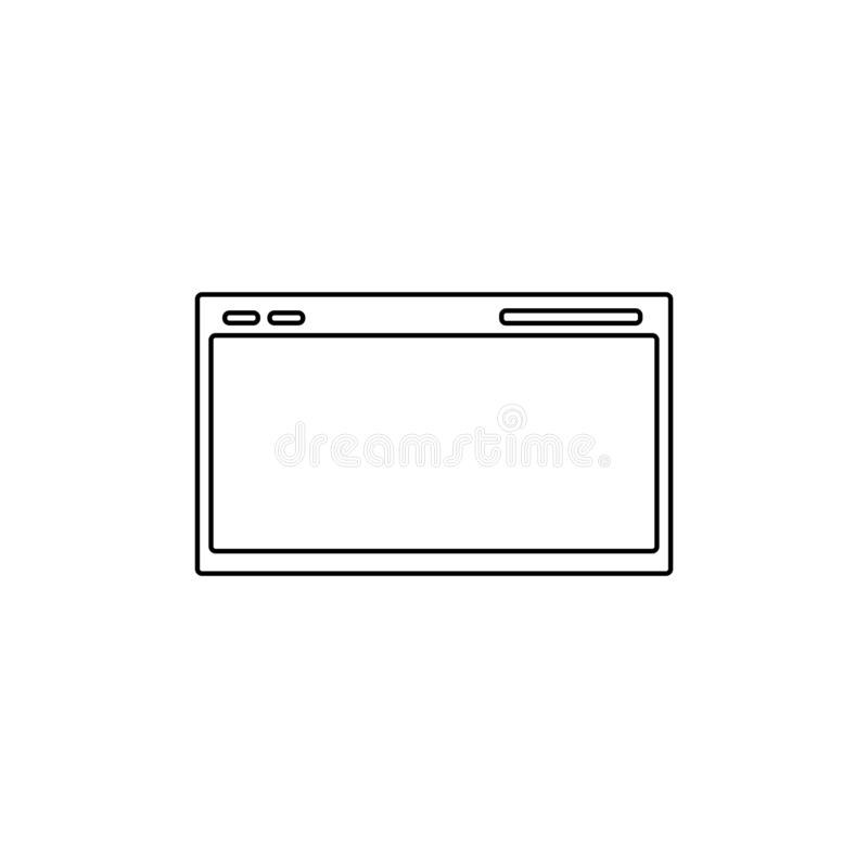 Web page icon. Internet window symbol vector illustration