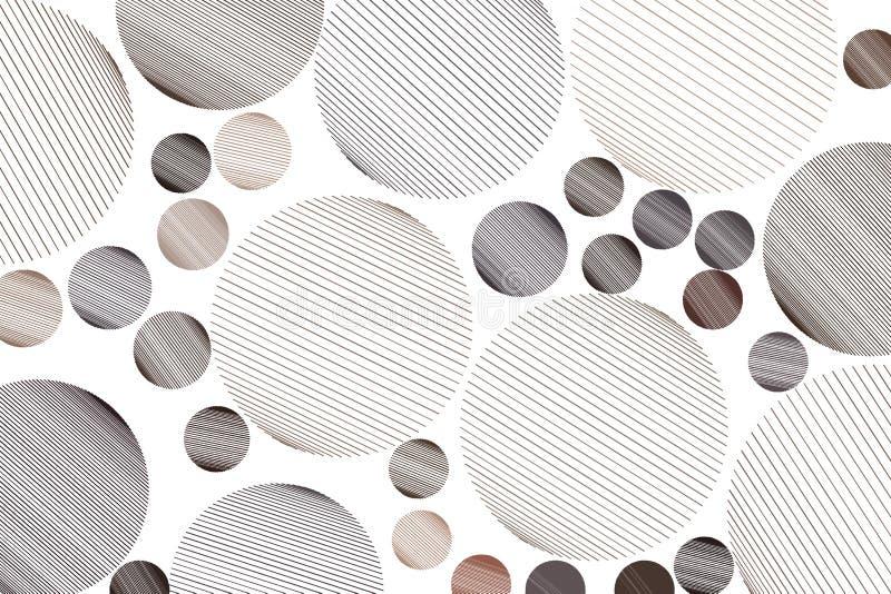 Form der unordentlichen gelegentlichen Linie kreist, geometrisches Hintergrundmuster der Zusammenfassung ein Effekt, Segeltuch, K vektor abbildung