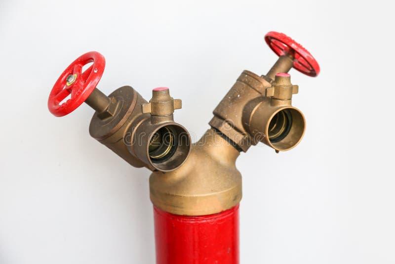 Form des Hydranten Y auf weißem Hintergrund lizenzfreies stockfoto