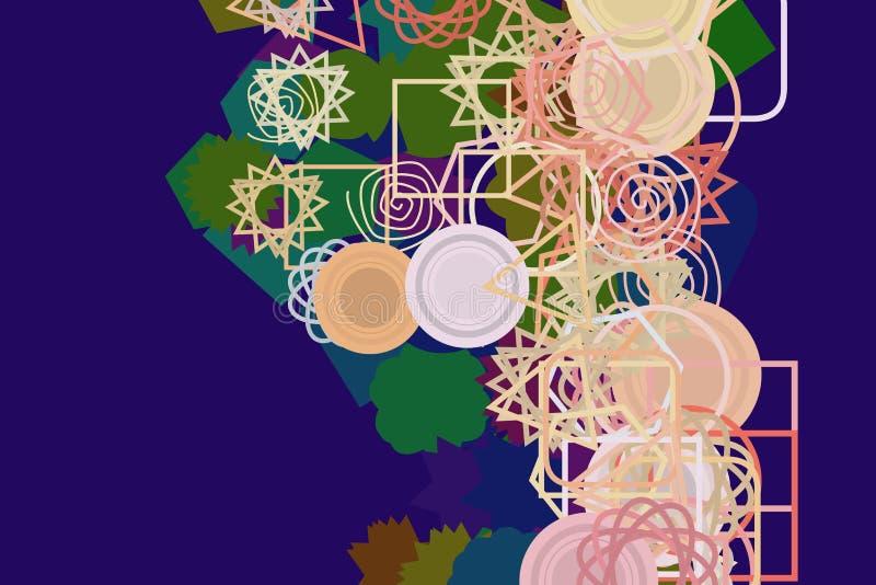 Form des Misch-, abstrakten Hintergrundmusters Unordentlich, quadratisch, Weiß u. Dekoration stock abbildung