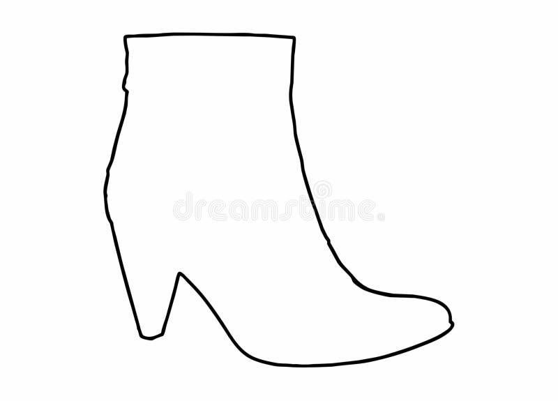 Form des Schuhes lizenzfreies stockfoto