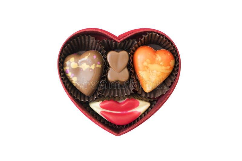 form för askchokladhjärta arkivfoton