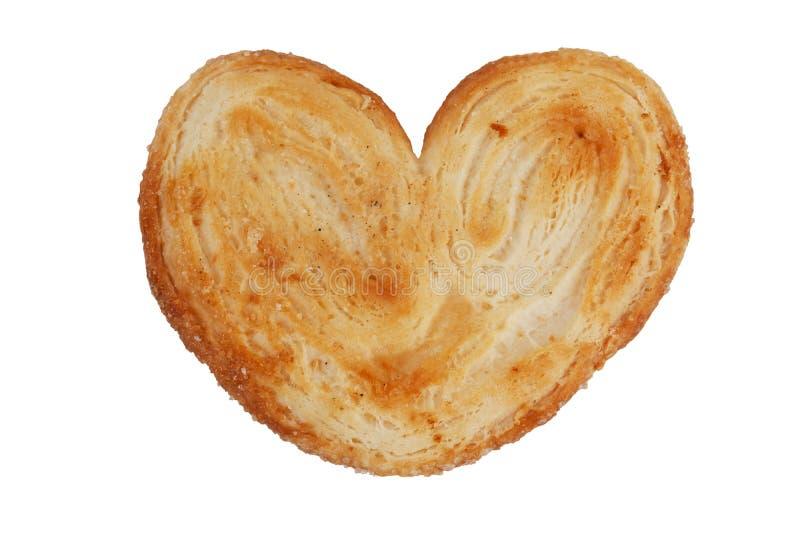 form för hjärtabakelsepuff arkivfoto