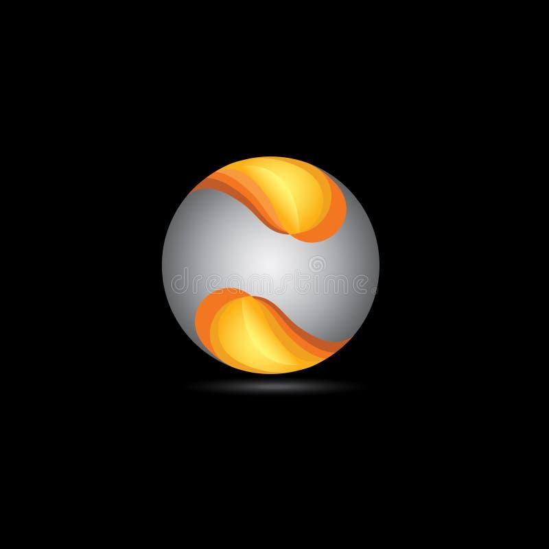 form för logo 3D stock illustrationer