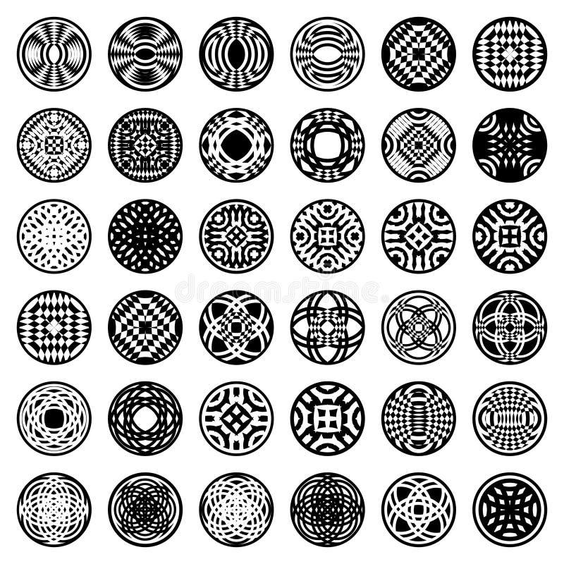 form för modeller för cirkeldesignelement vektor illustrationer