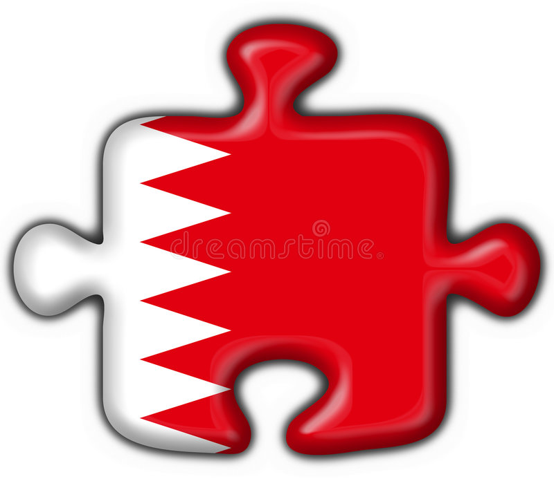 form för pussel för bahrain knappflagga royaltyfri illustrationer